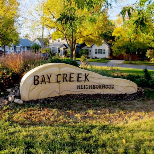 Sculptures by Aaron Laux Design seen at Bay Creek, Madison - Gateway Sculpture