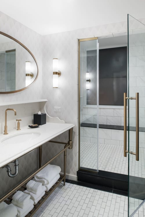 Sconces by Scott Lamp seen at Hotel LeVeque, Autograph Collection, Columbus - Model 6327
