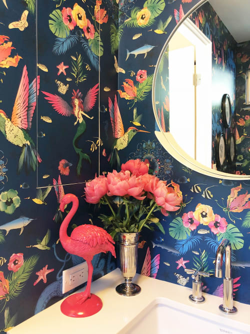 Wallpaper by Welcome to the Brightside seen at Private Residence, San Francisco - Atargatis