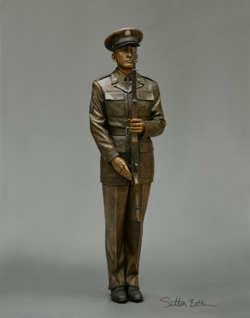Public Sculptures by Sutton Betti seen at West Point, West Point - Present Arms, US Army