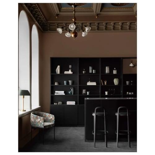 Furniture by Lundia seen at Erottaja2, Helsinki - black classic shelf