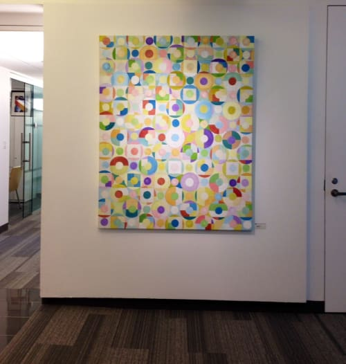 """Paintings by Benna Holden seen at Pottery Barn, New York - """"Togetherness Painting"""""""