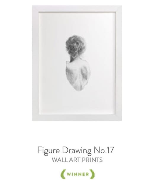 Art & Wall Decor by Jess Blazejewski Fine Art seen at Private Residence, Milwaukee - Figure drawing no.16 & Figure drawing no.17