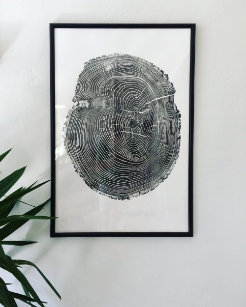 Art & Wall Decor by Erik Linton seen at Private Residence, Vancouver - Set of 3 Large Tree Ring Prints