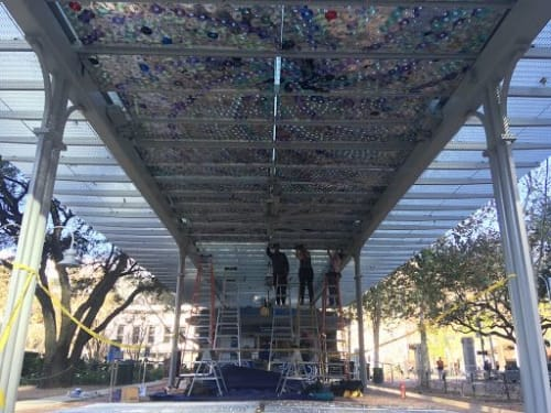 Public Sculptures by Leticia Bajuyo seen at Market Square Park, Houston - Iridescence, 2020