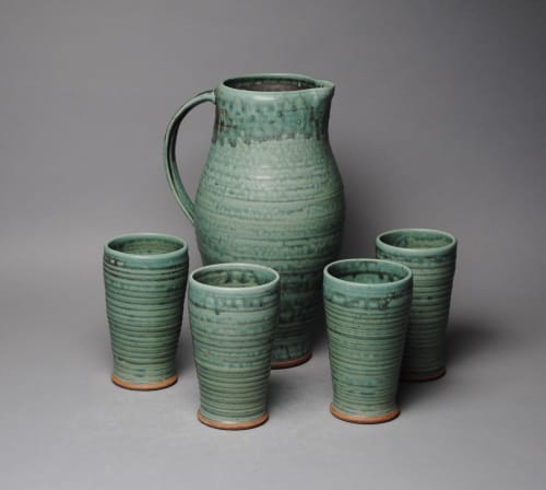 Cups by John McCoy Pottery seen at Creator's Studio, West Palm Beach - Pitcher and Tumbler set