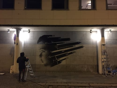 Street Murals by SKURK seen at Bergen, Bergen - Peace of mind