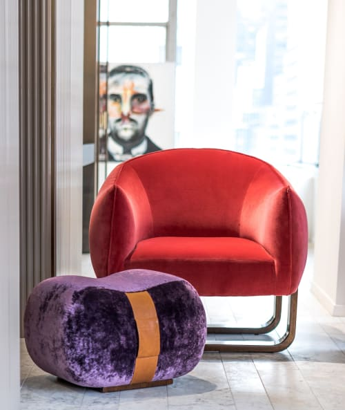 Chairs by Marie Burgos Design seen at New York, New York - Milo Armchair + Milo Bean Ottoman