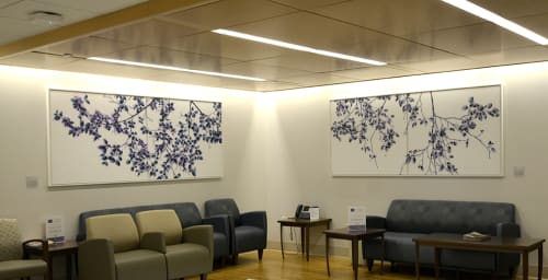 Paintings by Jackie Battenfield seen at NYU Langone Medical Center, New York - Commissioned Paintings and Ceiling Treatments