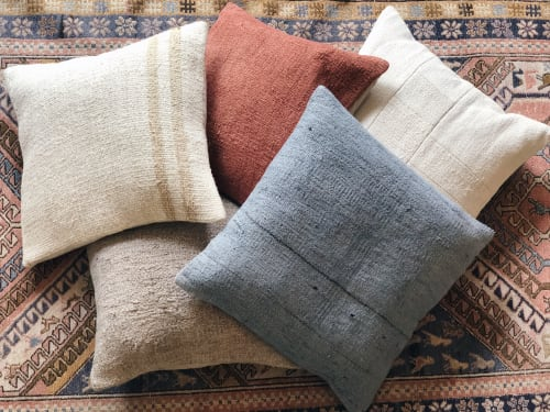 Pillows by Wayfarer seen at Private Residence, Topanga - Vintage Hemp Accent Pillows