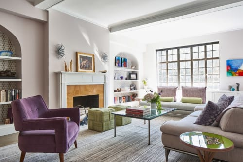 Chairs by Lucy Tupu Studio seen at Private Residence, New York - UES Apt-Flax Cubes