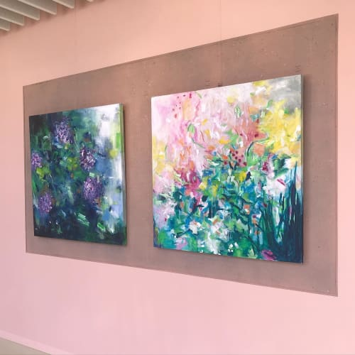 Paintings by Art by Geesien Postema seen at Martini Hospital, Groningen - Flowers enjoying the sun