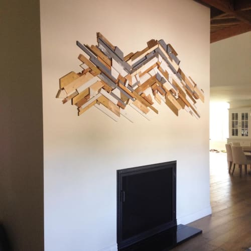 Wall Hangings by Taylor Crockett seen at Private Residence, Phoenix - Wood Sculpture Hanging
