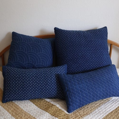 Pillows by Maura Grace Ambrose (Folk Fibers) at Private Residence, Austin - Pillow Collections