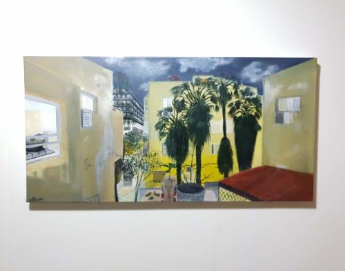 Paintings by PninaDesign seen at Private Residence, Tel Aviv-Yafo - Rachel's Palms