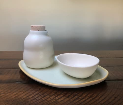 Tableware by Dubhe Carreno/ This Quiet Dust Ceramics seen at This Quiet Dust Ceramics, Northbrook - OLIVE OIL SERVING SET