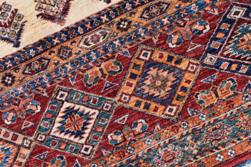 Rugs by Qadimi seen at Private Residence, Raleigh - Arcadia in Ivory Afghan Persian Rug
