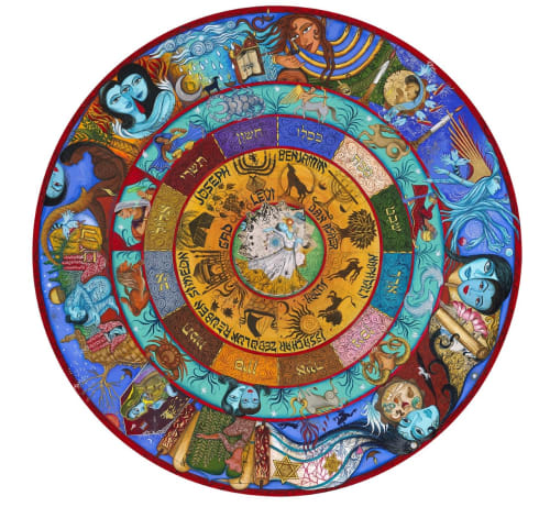 Public Mosaics by Siona Benjamin seen at St. Louis, St. Louis - Synagogue Porcelain Floor