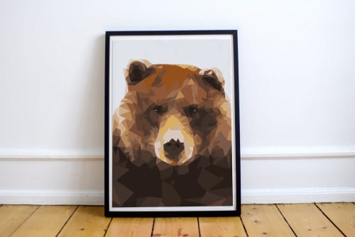 Paintings by Calais Ann Le Coq seen at San Francisco, San Francisco - Bear Illustration