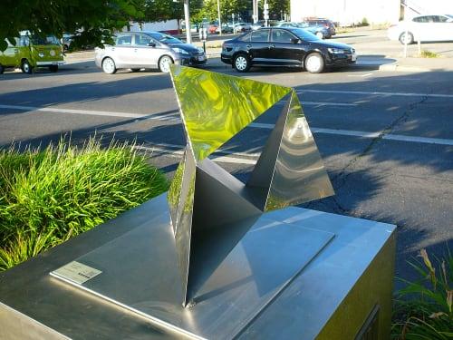 Public Sculptures by Cyrra Robinson seen at 10 E Main St, Auburn - Reflective Balance