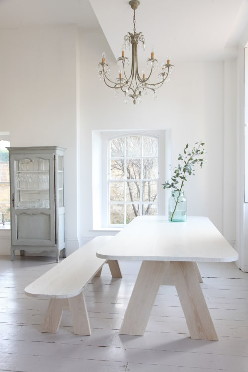 Bespoke bleached oak dining table | Tables by Design by Timber