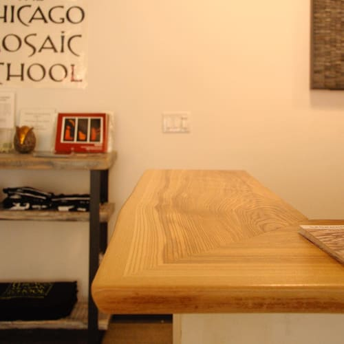 Furniture by Chicago Forestry seen at The Chicago Mosaic School, Chicago - Countertop