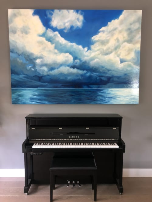 Paintings by Caylin Rose Janet seen at Private Residence, Los Angeles - Bora Bora Painting