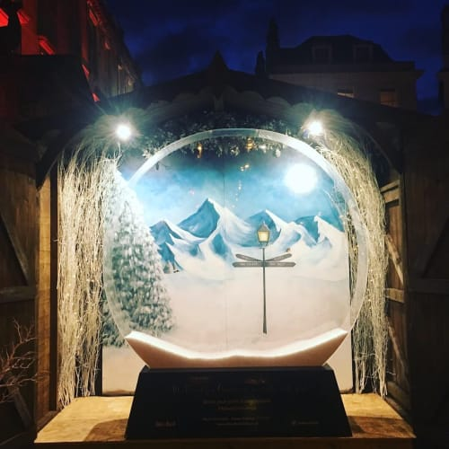Murals by EMMA TAYLOR ART seen at Abbey Hotel Bath, a Tribute Portfolio Hotel, Bath - Ski Bar mural