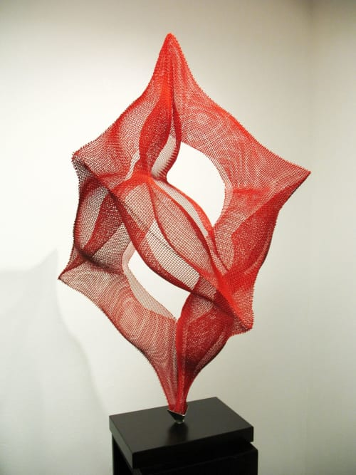 Sculptures by Boyer Metal Sculpture seen at Shanghai, Shanghai - Red Cube