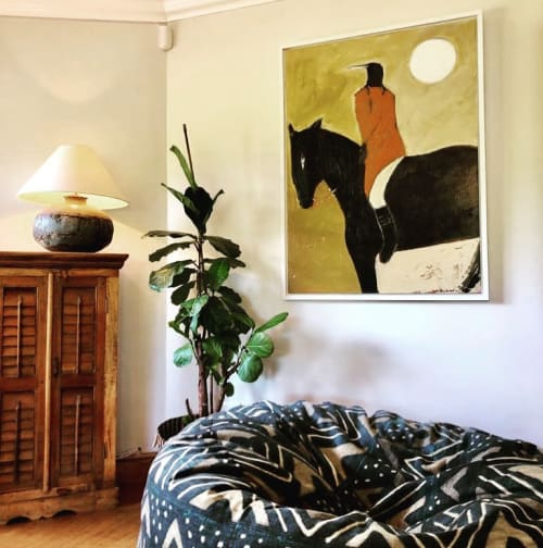 Paintings by Karen Bezuidenhout seen at Private Residence, Cape Town - The Native American
