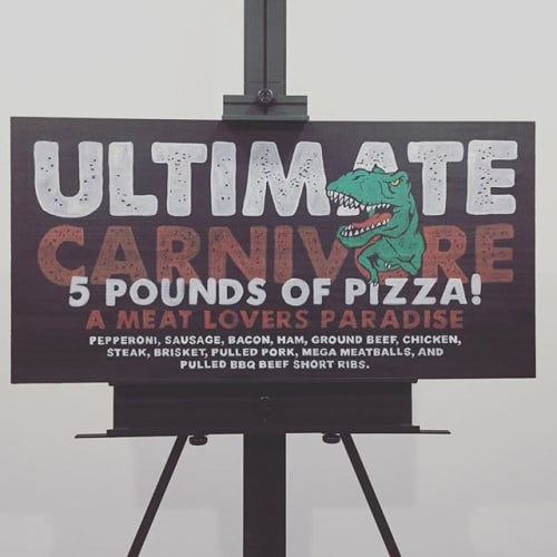 Wall Hangings by Gambrel Creative seen at 101 N Walnut St, Mount Summit - Ultimate Carnivore Sign