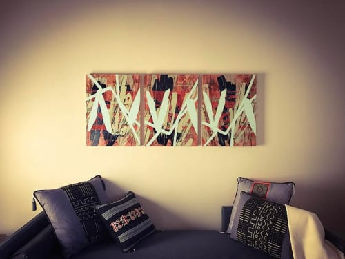 Paintings by Nina Tichava seen at Private Residence, 3a Calle Arbusto - Abstract Painting
