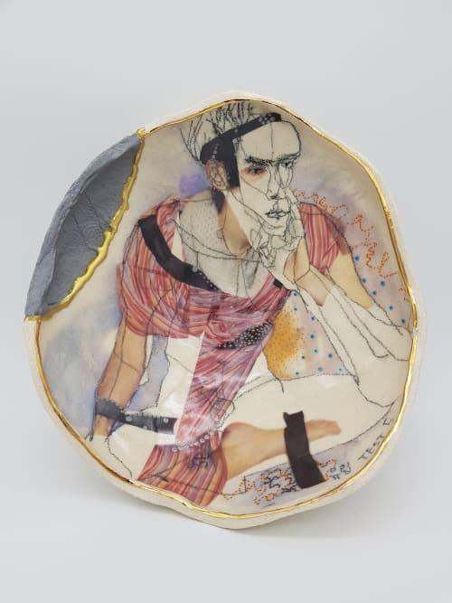 Ceramic Plates by Yurim Gough seen at Cambridge, Cambridge - Miles away from present