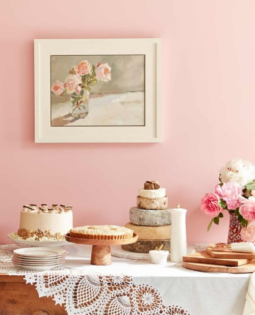 Paintings by Lynne Cartlidge seen at Private Residence, Swindon - Roses Painting