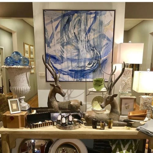 Paintings by Lacy Johnson seen at Rosson Co., Cleveland - Into the Water