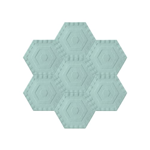 Rugs by kinder MODERN at The Wing Georgetown, Washington - Sky Swizzle Honeycomb