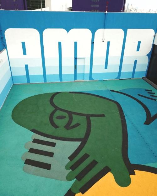 Murals by Efdot seen at Monterrey, Monterrey - Amor Court