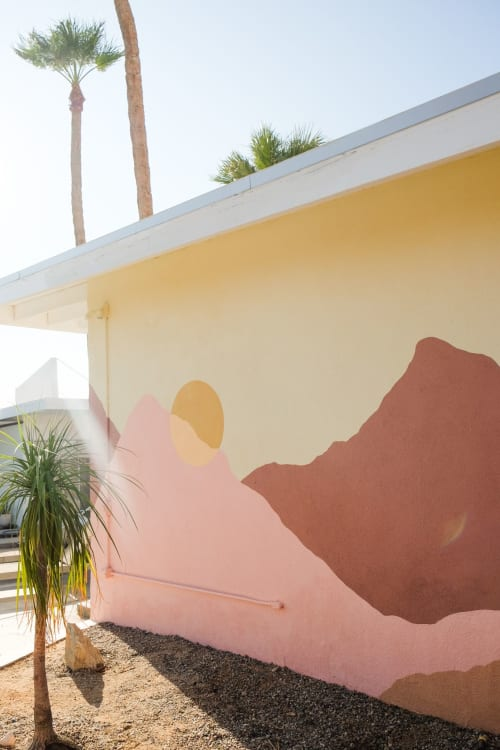 Murals by Ana DiGiallonardo seen at Miracle Manor Boutique Hotel & Spa, Desert Hot Springs - Miracle Manor Hotel & Spa Outdoor Mural