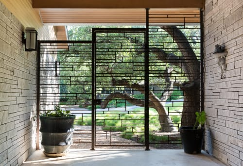Hardware by Brian Chilton Design at Client Residence - Austin, Texas, Austin - Custom Metal Outdoor Gate