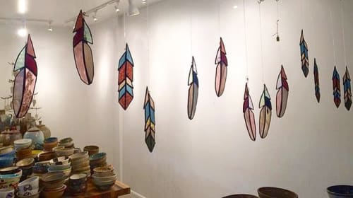 Wall Hangings by Gold Fever Glass / Courtney Baker seen at The Wedge Ceramics Studio, Reno - Feathers