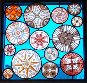 Sandblasted stained glass panel. | Art & Wall Decor by Kate Gakenheimer Stained Glass