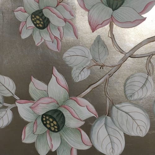 Murals by Alan Carroll Studio seen at Private Residence, New York - Hand-painted chinoiserie wall mural