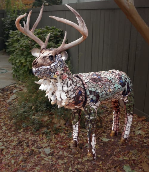 Sculptures by Kerri Warner seen at Private Residence, Fair Oaks - Gallimaufry Stagg