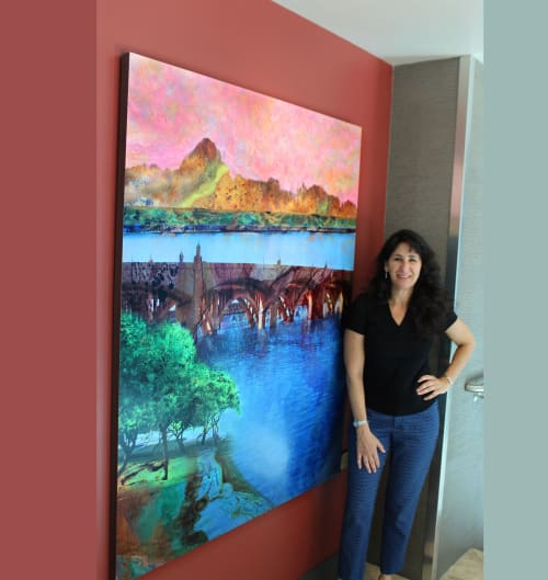 Art & Wall Decor by Art Mixed Up - Joey Melinda Morgan seen at Edgewater Condominiums, Tempe - 'View from the Edge'