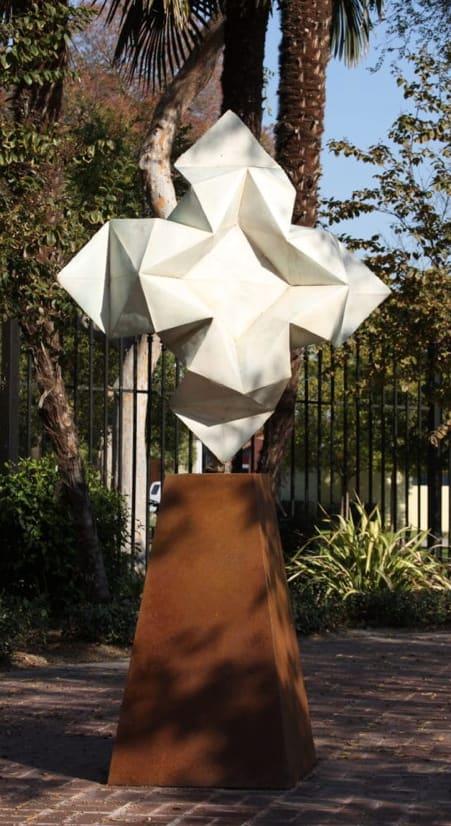 Public Sculptures by KevinBoxStudio. at Progress Park, Paramount - Star Unfolding