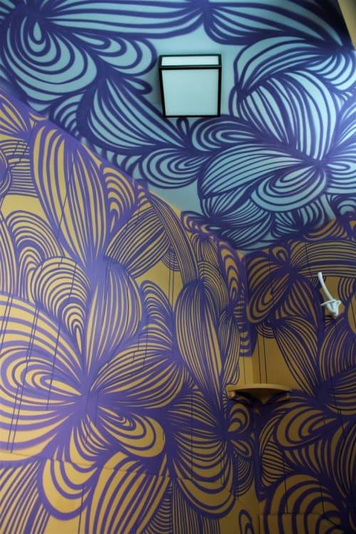 Murals by KEF! at Molitor, Paris - Interior Mural