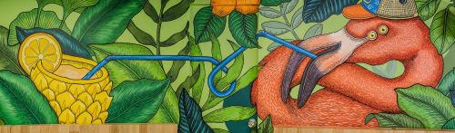 Murals by Godie Arboleda at Provenza, La Florida - Mr. Botter II