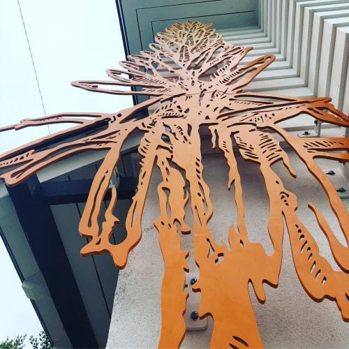 Sculptures by Sage Vaughn at Hotel Joaquin, Laguna Beach - Wildflower