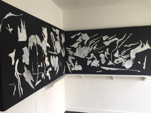 "Wall Hangings by Eirini Linardaki seen at Lower Eastside Girls Club, New York - ""Mashup explosivity"""