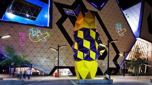 Public Sculptures by Geoffrey Drake-Brockman seen at Perth Arena, Perth - Totem